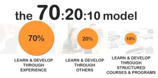 Модель обучение 70:20:10