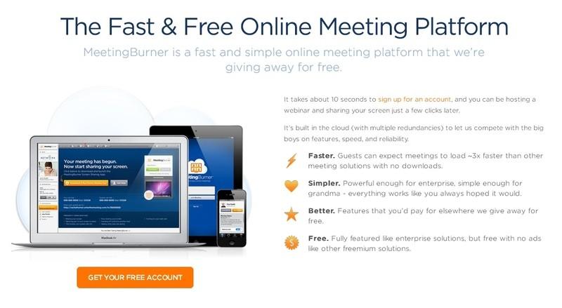 meetings burner бесплатные вебинары видеоконференции