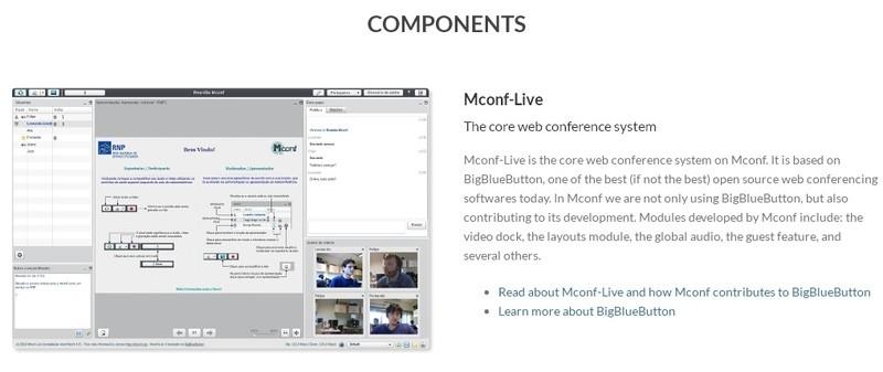 mconf бесплатные вебинары видеоконференции