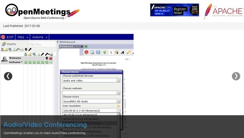 Apache OpenMeetings бесплатные вебинары видеоконференции