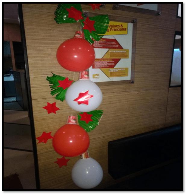 новогоднее оформление офиса компании