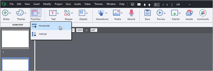 Инструмент Fluid Boxesв программе Adobe Captivate