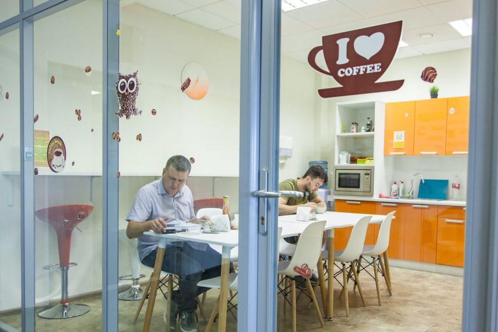 """Комфортный офис. Кейс от компании """"Биглион"""". Кафе"""
