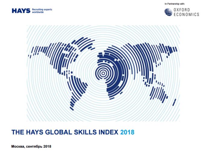 Hays Global Skills Index 2018: Российский рынок труда испытывает недостаток в квалифицированных специалистах