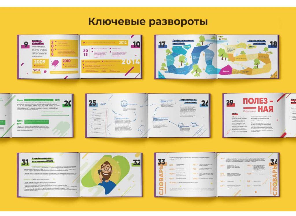 Совместно с командой HR мы создали книгу счастья.
