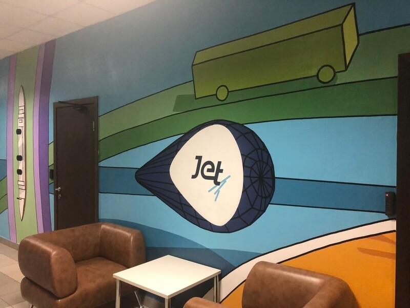 Офис «Инфосистемы Джет» разрисовали популярные стрит-арт-художники