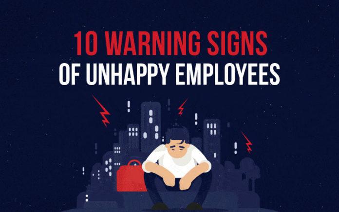 10 предупреждающих знаков недовольных сотрудников. Инфографика